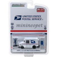 GREENLIGHT 51280 USPS LLV LONG LIFE DELIVERY 1/64 with MAIL CARRIER & MAIL BOX