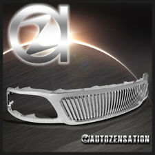 99-03 Ford F150 Expedition Euro Chrome Vertical Hood Grill Grille