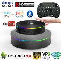 Android9.0 T95Q 8K TV Box S905X3 4G+64G Quad Core Dual WiFi Player Keyboard Lot