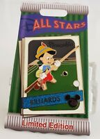 DISNEY TRADING CARD ALL STAR PINOCCHIO POTM 4TH IN SERIES LE PIN-FREE SHIPPING!