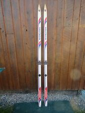 "GREAT Vintage 73"" Long Skis Nice Original RED WHITE BLUE Finish"