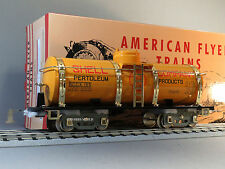 MTH LIONEL CORP TINPLATE 4010 STD GAUGE AMERICAN FLYER SHELL TANK CAR 11-30227