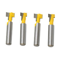4pcs 8mm Shank Keyhole Cutter T-Slot Router Bit Woodworking Milling Tools
