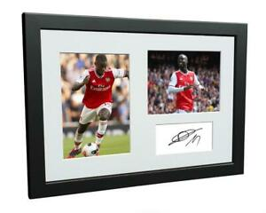 Signed Nicolas Pepe Arsenal Autographed Photo Photograph Picture Frame Gift A4