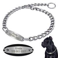 Personalised Dog Training Collars Choke Chain Collar for Medium Large Dogs Boxer