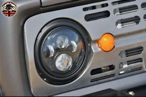 "LED Headlights x2 for Classic Cars 7"" Inch DOT E9 Approved LHD + RHD 734B"