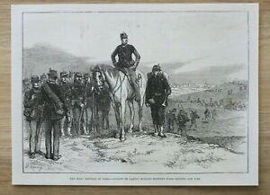 L12b) Holzstich Fort Bicetre Ivry 1870 Mobile Garde Krieg Frankreich Deutschland