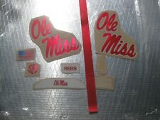 Ole Miss Rebels Chrome  20 mil 3M vinyl full size football helmet decals