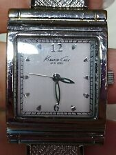 KENNETH COLE WOMENS SILVERTONE EXPANSION BAND WATCH-WR-LUMINOUS