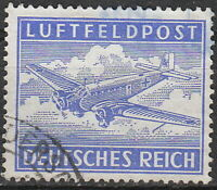 Stamp Germany Feldpost Mi 1 Sc MC1 1942 WWII Fascism War Eagle Plane Used