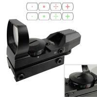 Holographic Rifle Shotgun Gun Mount Air Rifle Scope 4Reticle Red/Green Dot Sight