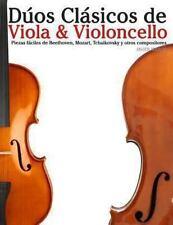 Dúos Clásicos de Viola and Violoncello : Piezas Fáciles de Beethoven, Mozart,...