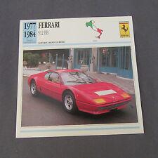 628C Edito Estación de Enchufe Folleto Ferrari 512 BB