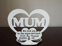 Personalised heart keepsake for MUM, tea light holder, perfect mother's day gift