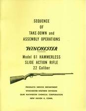 """Winchester Model 61 Sequence of Take-Down and Assembly Operations """"Original"""""""