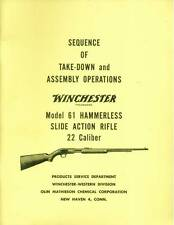 Winchester Model 61 Sequence of Take-Down and Assembly Operations