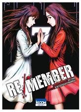manga Re/Member Tome 7 Seinen MURASE Katsutoshi Welzard Ki-Oon ! horreur カラダ探し
