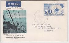 Stamp Australia 1957 AAT Antarctic 2/- blue map on Guthrie specific cachet FDC