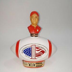 Vintage Jim Beam 1971 Nebraska FOOTBALL National Champions Whiskey Decanter