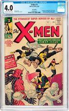 X-Men #1 CGC 4.0 1963 1st Appearance! Key Silver Age! Wolverine! UK! F8 112 cm