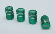 4x Valve Cap for FORD Aluminium Dust Caps for RS/Std Line Brand New Green Check