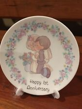 """Happy 1st Anniversary� plate Precious Moments"