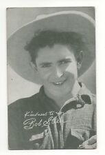 Bob Steele 1940's 1950's Salutations Cowboy Exhibit Penny Arcade Card
