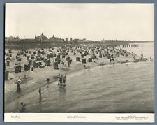 Pologne, Misdroy, Strand Vintage silver print  Tirage argentique  18x24  C
