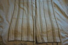 "Vintage Large Pair 1960s/1970s Brown Hessian Style Woven Curtains Retro 42""x 47"""