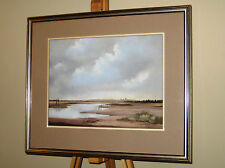 JOHN GOLDSBOROUGH Atmospheric Original Pastel Painting 'Morning on the Marshes'