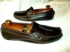 Clarks Brown Leather Driving Mocs Loafers Mansell Brown Brazil 87706 Mens 13M