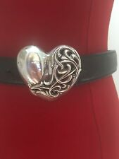 CHROME HEARTS Limited & Rare Sterling Silver 1995 Heart Belt Buckle!