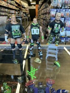WWE  Elite Series 7 DX  ARMY SET LOT Shawn Michaels, Triple H, Hornswoggle
