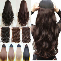 Natural Lady 3/4 Full Head Clip In on Hair Extensions Curly Wavy Straight Hair