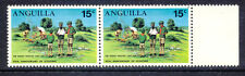 2304 ANGUILLA 1970 Scouting 15 C. First Aid Exercise U/M pair VARIETY: @LOOK@