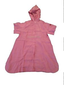 NEW 100% LINEN PINK OILILY GIRLS PINK HOODED DRESS 134 (8-9) CLASSY!!