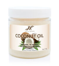 Coconut Oil 76 Degree 4 oz REFINED NATURAL CARRIER Cold Pressed 100% PURE in jar