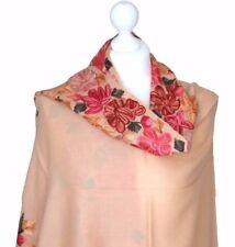 Luxury Wool 100% Pashmina Shawl Ladies Hand Embroidered Shawl Women Blanket Wrap