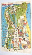 Vintage 1970s Poster Map CEDAR POINT Amusement Park Sandusky Ohio 29 1/2 x 19