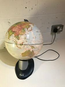 Large World Globe Desktop Illuminated Light Up Revolving 37cm Diameter
