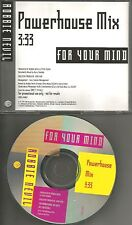ROBBIE NEVIL For your Mind w/ RARE POWERHOUSE MIX PROMO DJ CD Single 1991 USA