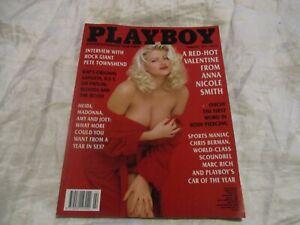 VINTAGE PLAYBOY MAGAZINE FEBRUARY 1994 RED-HOT VALENTINE FROM ANNA NICOLE SMITH