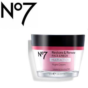 No7 Restore & Renew FACE & NECK MULTI ACTION NIGHT CREAM 50ml New & Genuine