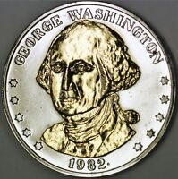 1982 George Washington Commemorative Double Eagle Medal Gold Colored