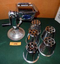 King Kutter Vintage Vegetable Food Processor Cutter w 5 Blade Cones