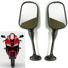 Black Motorcycle Bike Mirrors Pair Universal for Honda Powersport Bike CBR250R