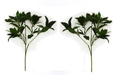 Set of 2 Artificial Laurel Bush with Veined Leaves - 48cm - Fake Foliage Stem