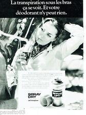 PUBLICITE ADVERTISING 115  1976  GILLETTE   le déodorant Spray-Dry