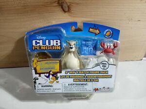 "DISNEY CLUB PENGUIN 2"" MIX N MATCH FIGURE PACK SERIES 4 HERBERT BEAR AND KLUTZY"