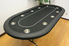 "10 Players 84"" Texas Holdem Poker Table Folding Legs Black Color"